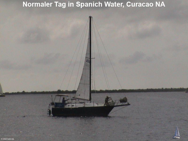 Normaler Tag in Spanich Water, Curacao NA