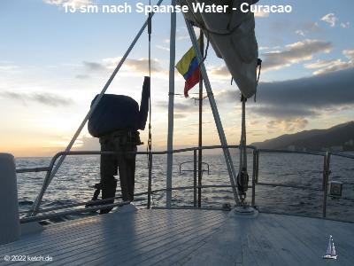 13 sm nach Spaanse Water - Curacao