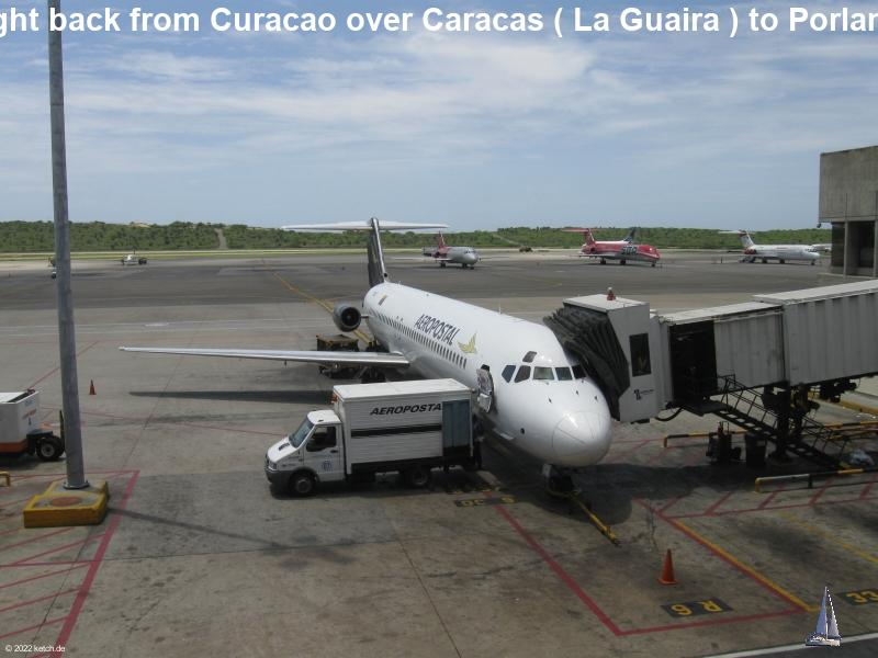 Flight back from Curacao over Caracas ( La Guaira ) to Porlamar
