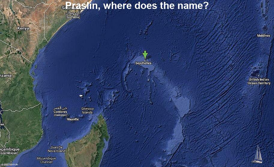 Praslin, where does the name?