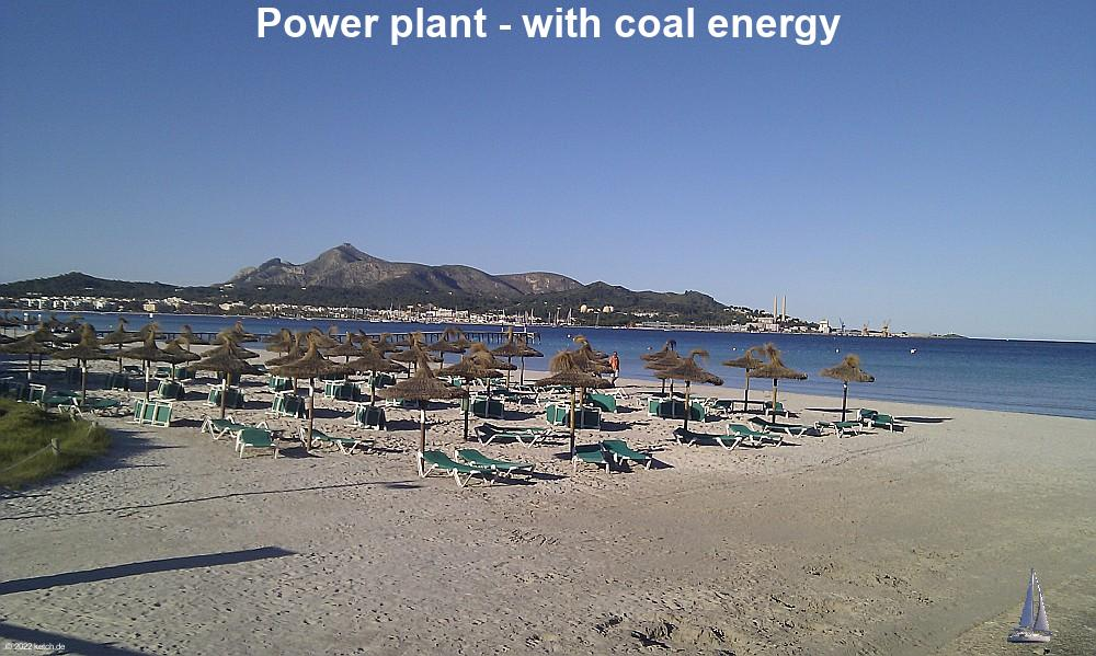 Power plant - with coal energy