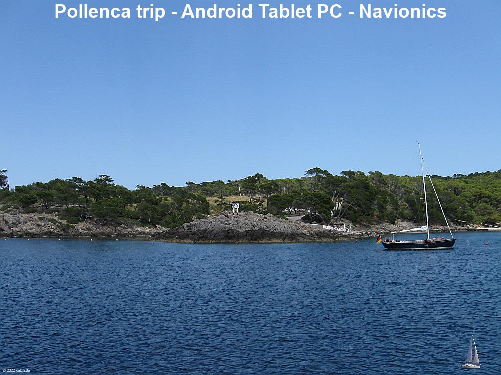 Pollenca trip - Android Tablet PC - Navionics