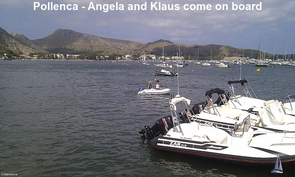 Pollenca - Angela and Klaus come on board