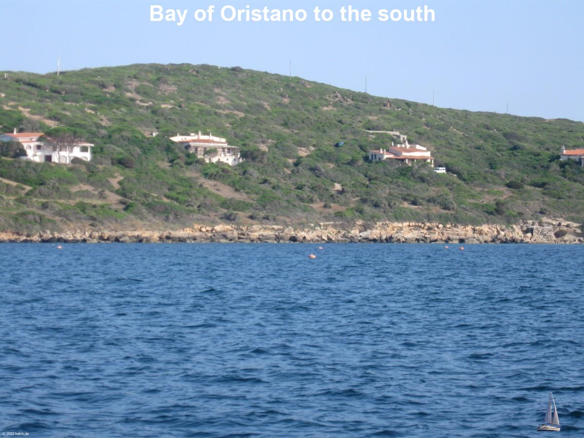 Bay of Oristano to the south