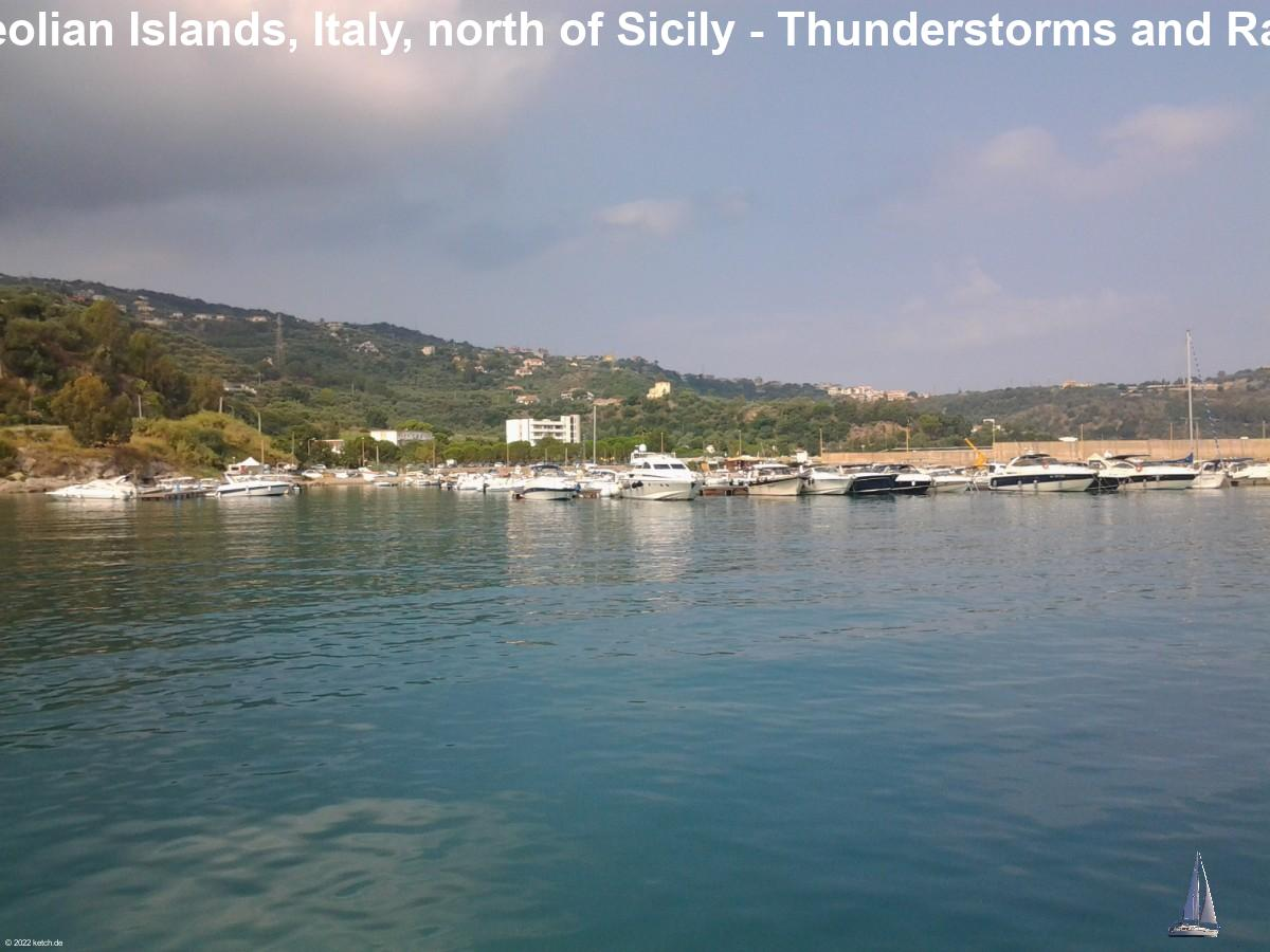 Aeolian Islands, Italy, north of Sicily - Thunderstorms and Rain