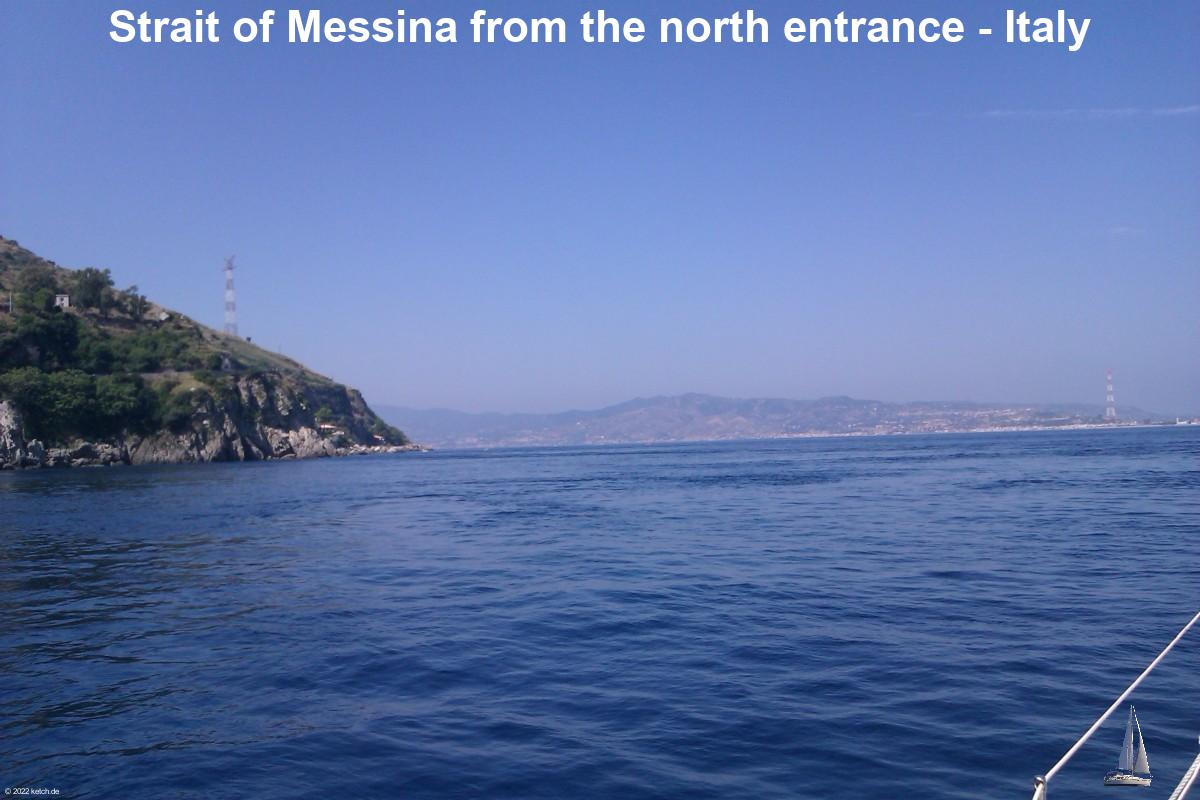 Strait of Messina from the north entrance - Italy