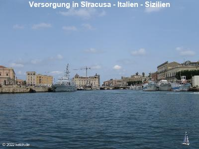 Versorgung in Siracusa - Italien - Sizilien