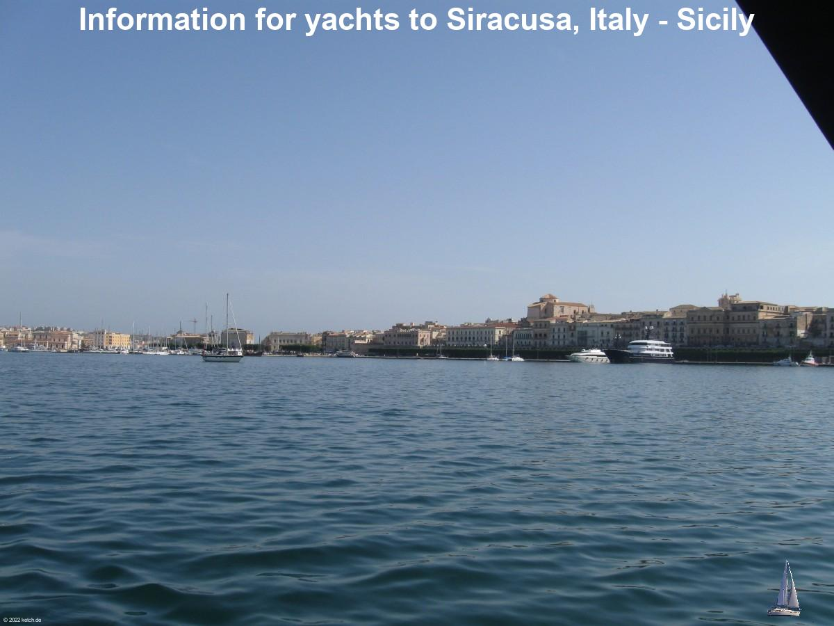 Information for yachts to Siracusa, Italy - Sicily