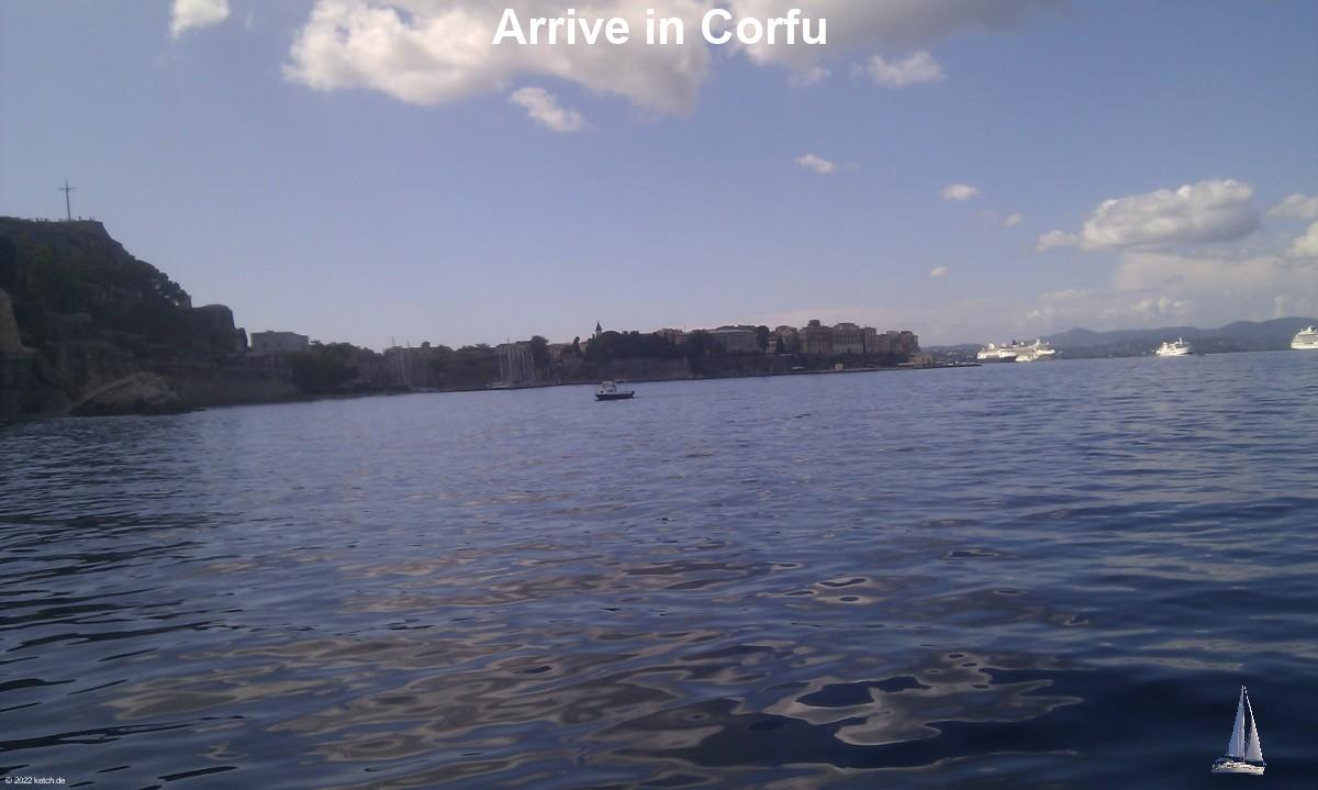 Arrive in Corfu