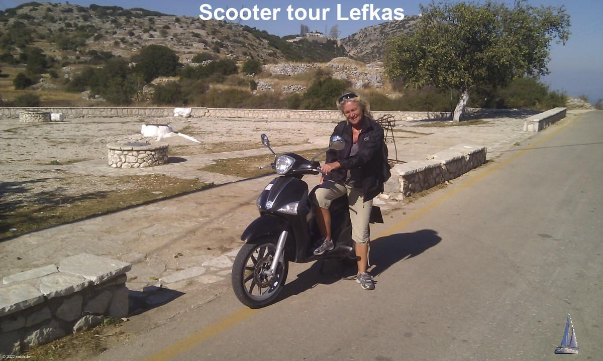 Scooter tour Lefkas