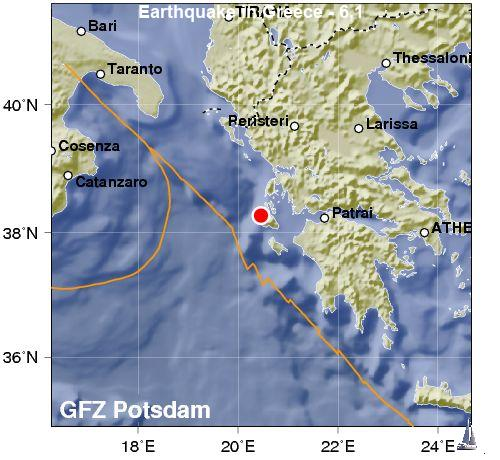Earthquake in Greece - 6,1