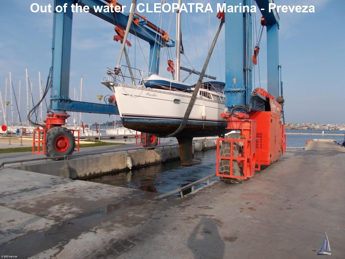 Out of the water / CLEOPATRA Marina - Preveza
