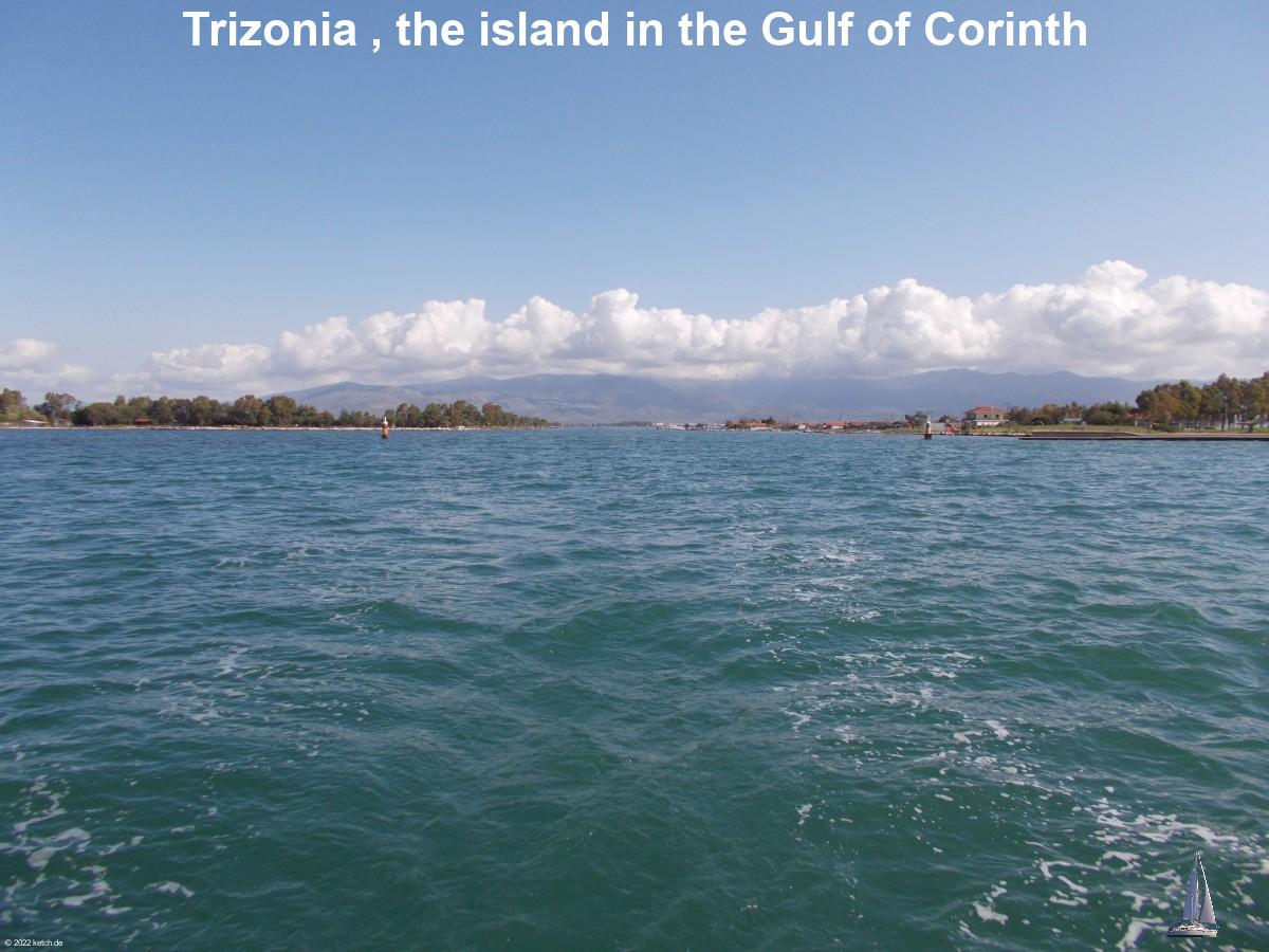 Trizonia , the island in the Gulf of Corinth