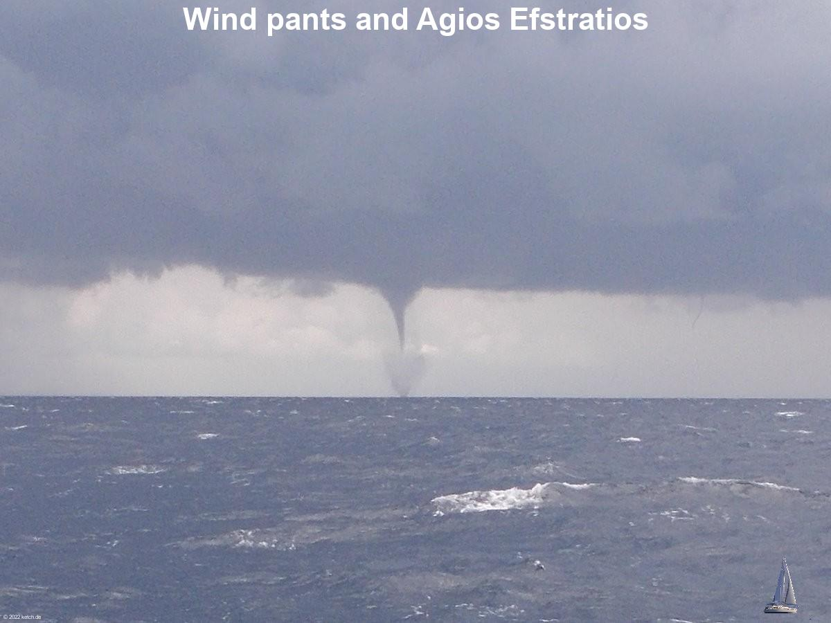 Wind pants and Agios Efstratios