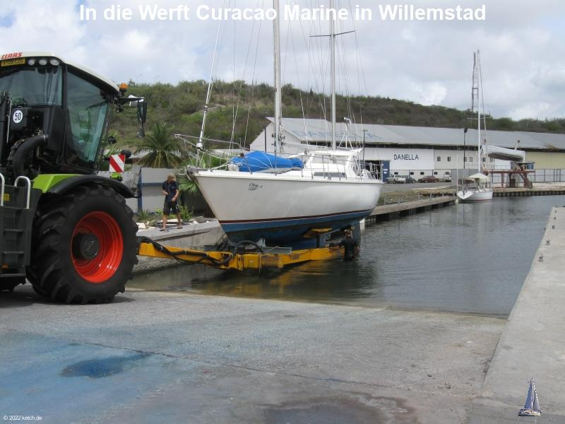 In die Werft Curacao Marine in Willemstad